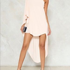 Nasty Gal one shoulder dress
